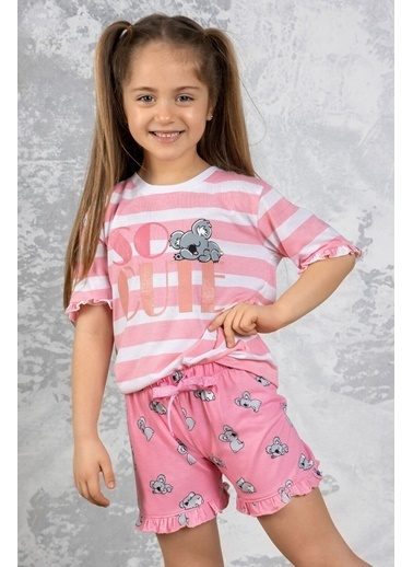 Katia & Bony Koala Desenli Kız Çocuk şortlu Pijama Takımı - Mix Renkli